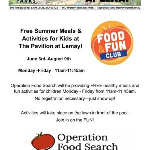 Free Summer Meals and Activities for Kids at the Pavillion at Lemay